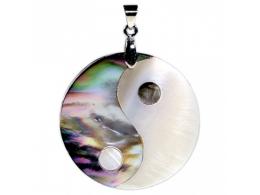 Abalone pärlikarp - kaunis ripats - Yin Yang